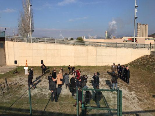 La Bústia visita de la consellera al solar del nou Palau de Justícia de Martorell