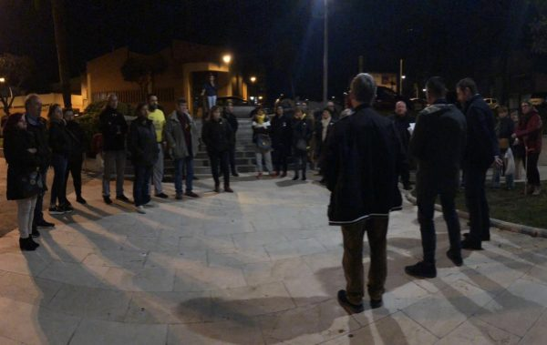 La Bústia concentració contra el judici del procés Abrera