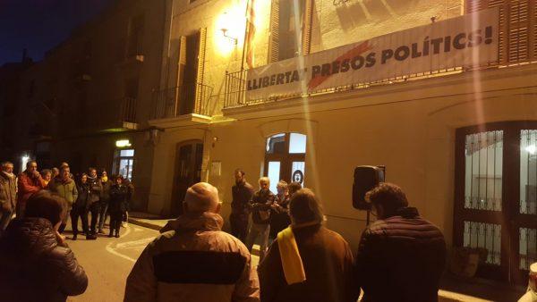 La Bústia concentració contra el judici del procés Aj Collbató
