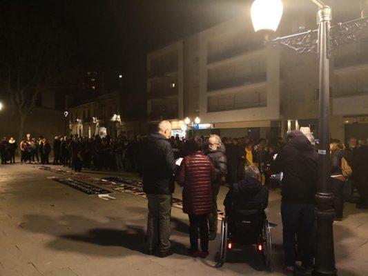 La Bústia concentració contra el judici del procés Aj Olesa