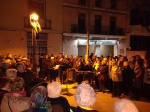 La Bústia concentració contra el judici del procés CDR Esparreguera