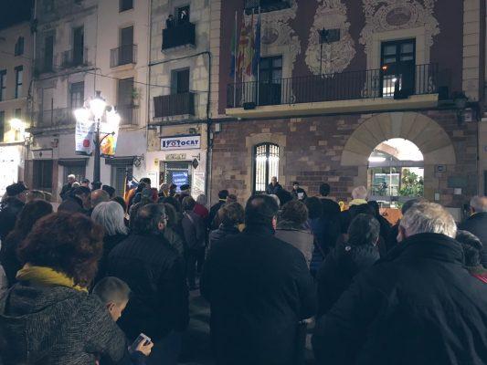 La Bústia concentració contra el judici del procés CDR Martorell