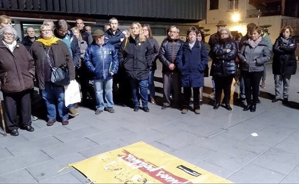 La Bústia concentració contra el judici del procés Gelida Climent Clerch