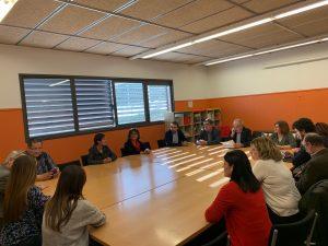 La Bustia visita conseller Bargallo a escola Vinya del Sastret Sant Esteve Foto Sant Esteve