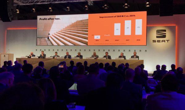 La Bustia Seat presentacio de resultats beneficis 2018 a Martorell