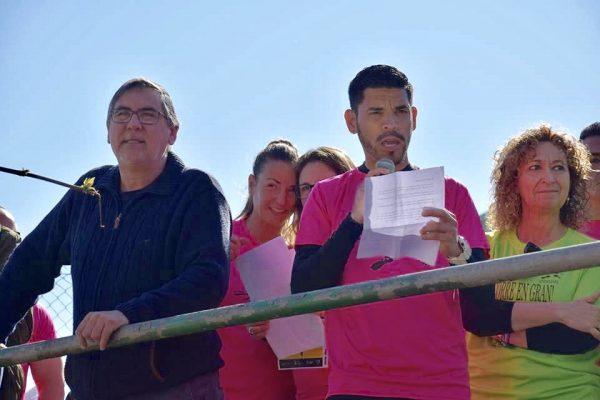 La Bustia alcalde i consellera Cursa Correr en Gran Sant Esteve Sesrovires