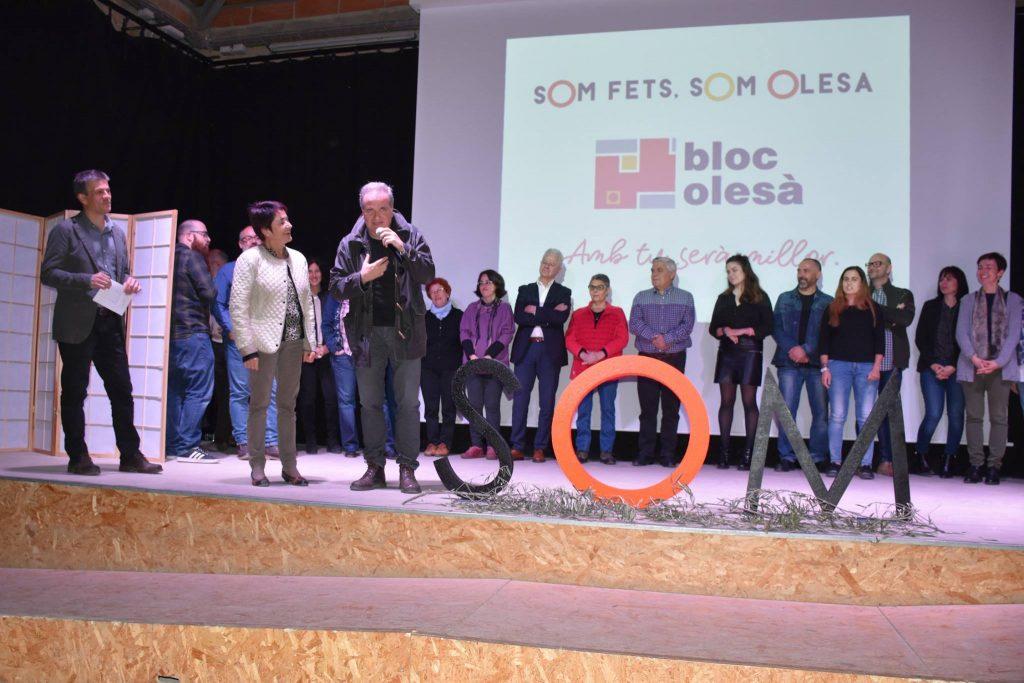 La Bustia Riera Puimedon i Prat presentacio candidatura El Bloc Olesa