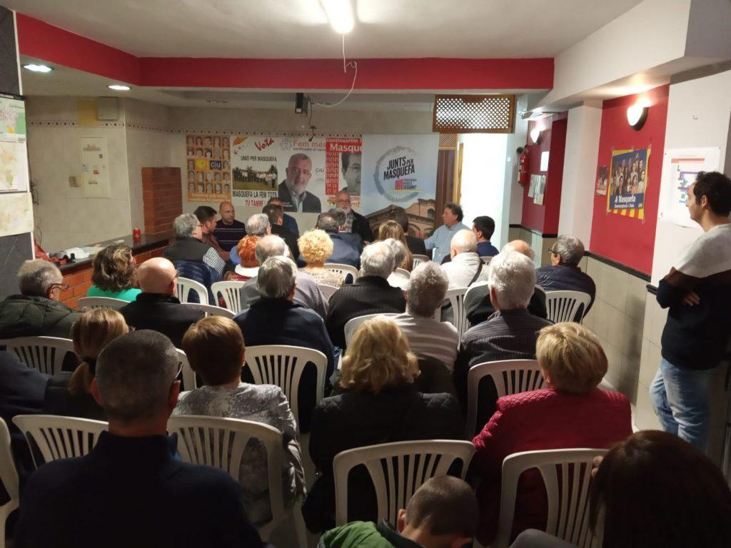 La Bustia presentació Xavier Boquete Junts per Masquefa