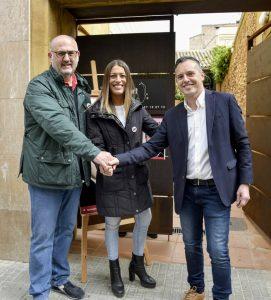 La Bustia presentacio Jordi Mestes amb Eduard Pujol i Miriam Nogueras Junts per Esparreguera