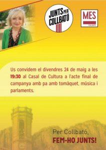 Junts per Collbato acte final de campanya 2019