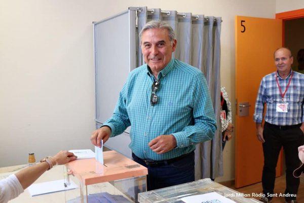 La Bustia Enric Llorca PSC votant a les municipals 2019 Sant Andreu de la Barca