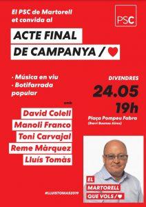 La Bustia PSC Martorell acte final de campanya 2019