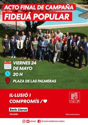 La Bustia PSC Sant Andreu acte final de campanya 2019