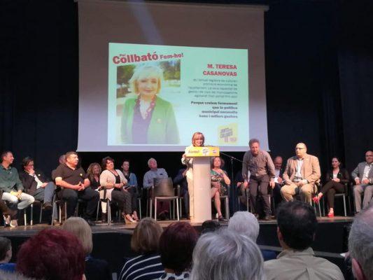 La Bustia presentacio llista Teresa Casanovas Junts per Collbato MES Collbato