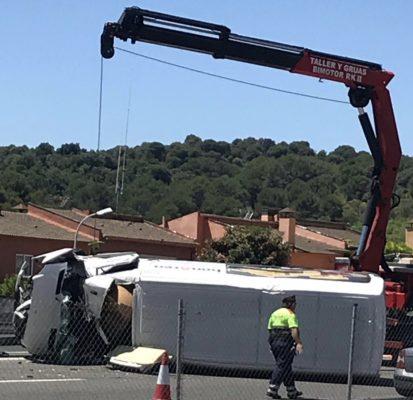 La Bustia accident transit A2 Collbato