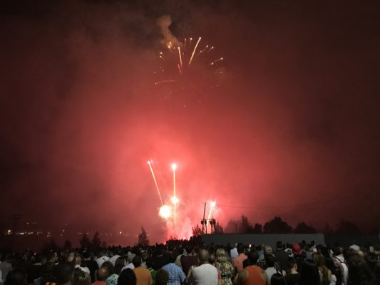 La Bustia castell de focs piromusical Abrera 2018