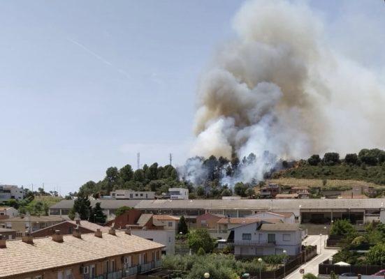 La Bustia incendi Sant Joan Masquefa