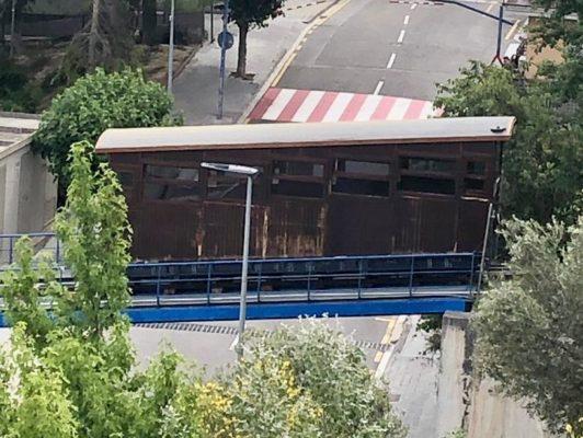 La Bustia pintada netejada 8 juny 2019 Funicular Gelida