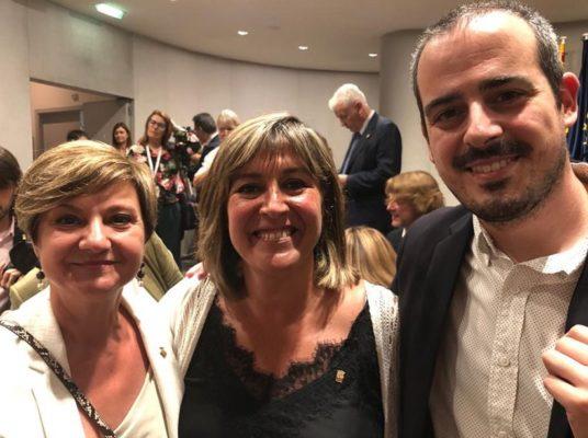 La Bustia PSC amb Nuria Marin i Eduard Rivas Diputacio Barcelona