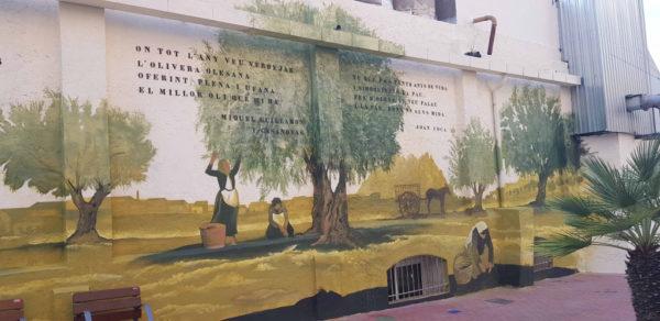 La Bustia mural Moli Oli Olesa