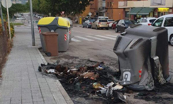 Olesa - La Bustia - crema contenidors 2