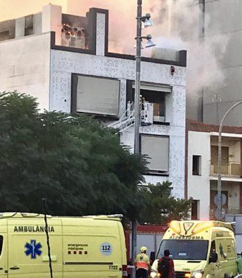 La Bustia incendi edifici Esparreguera