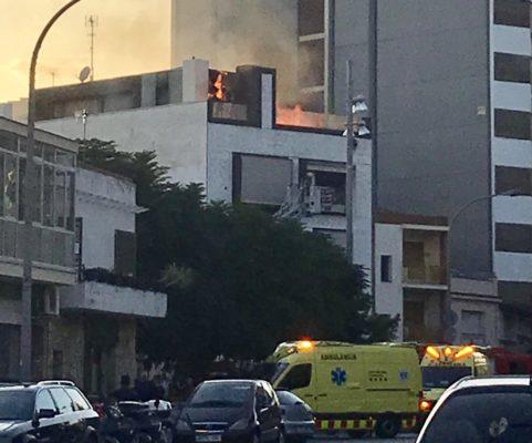 La Bustia incendi edifici avinguda Esparreguera
