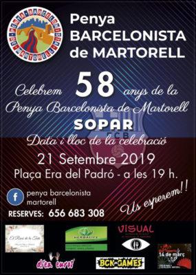 Martorell - La Bustia - Cartell Penya Barcelonista