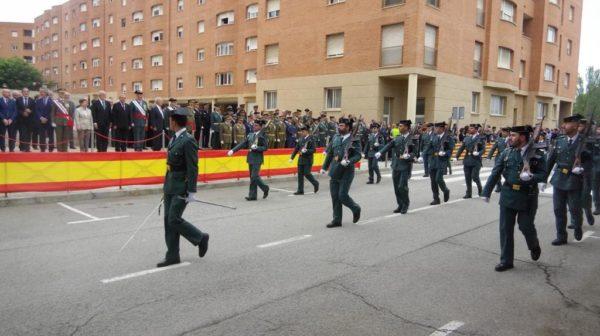 Acte 9 octubre 2019 Guardia Civil desfilada Sant Andreu