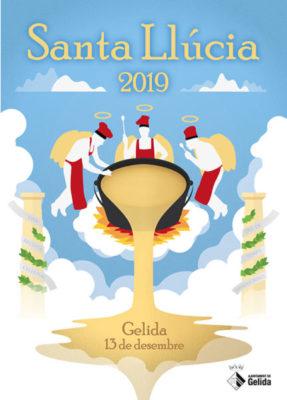 Gelida - La Bustia - Cartell Santa Llucia 2019