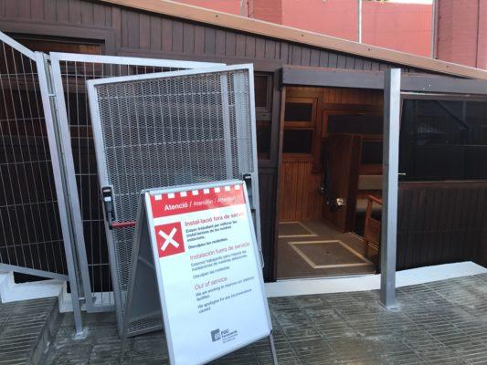 La Bustia funicular tancat Funifira Gelida