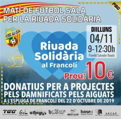 La Bustia riuada solidaria francoli futbol sala olesa