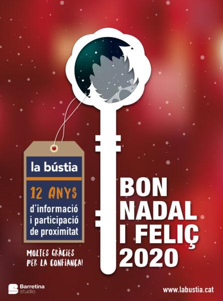 La Bustia Bon Nadal i any 2020 labustia