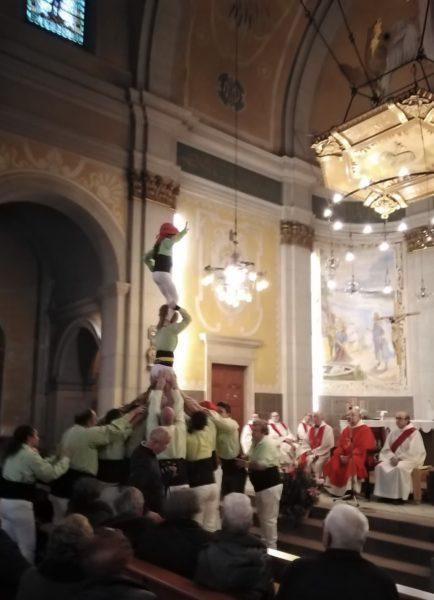 La Bustia castellers Vailets Santa Llucia Gelida