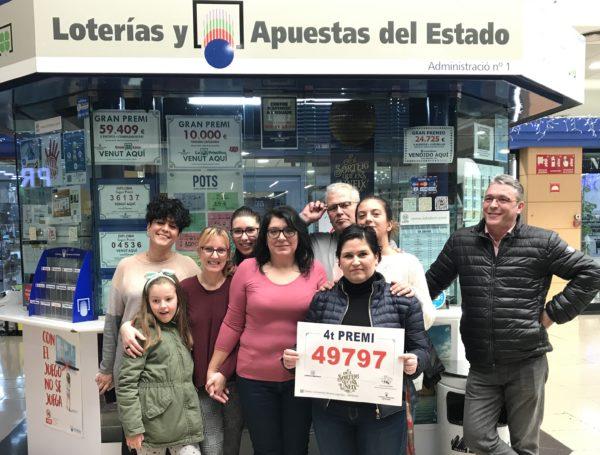 La Bustia grup loteria quart premi Sorteig de Nadal Abrera