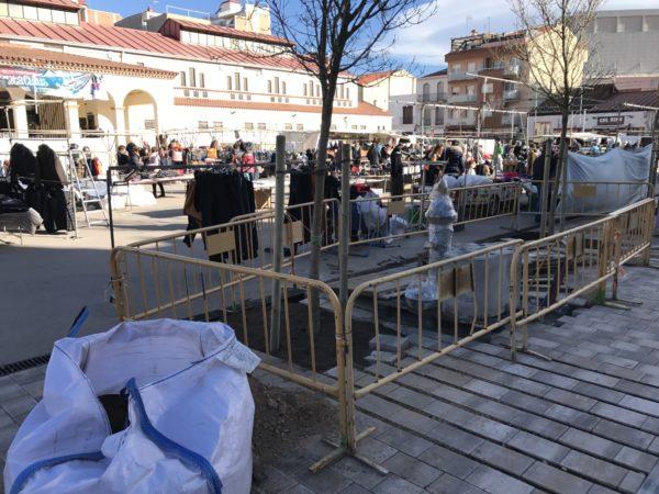La Bustia mercat ambulant obres Olesa