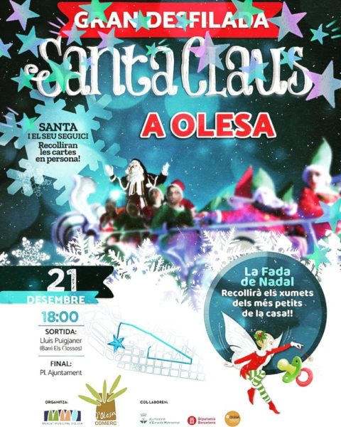 Olesa La Bustia cartell desfilada Santa Claus