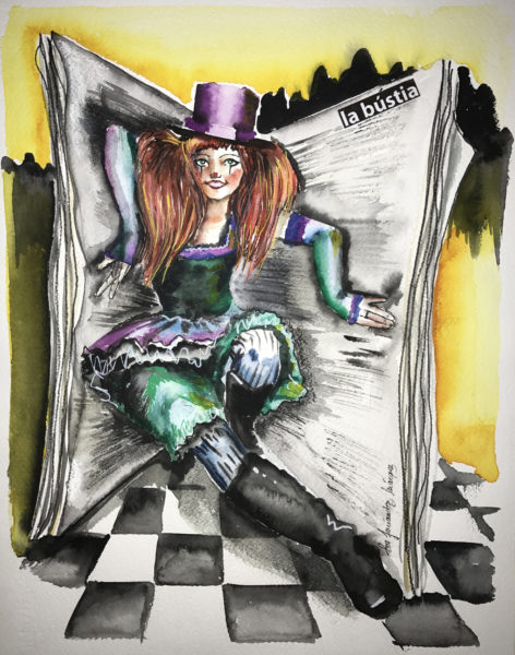Carnaval La magia de La Bustia pintura Eva Fernandez