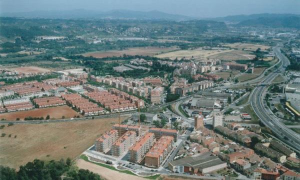 Abrera - La Bustia - vista aeria panoramica