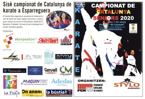 La Bustia Campionat Catalunya Karate senior 2020 Esparreguera