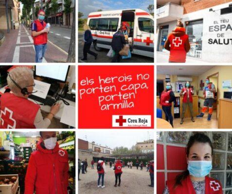 La Bustia Els herois no porten capa porten armilla Creu Roja Baix Llobregat Nord