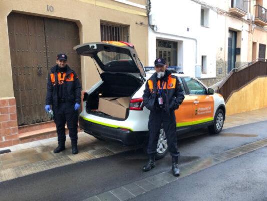 La Bustia Proteccio Civil mascaretes Abrera