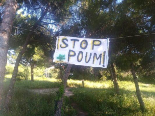 La Bustia Stop POUM Cal Candi Olesa