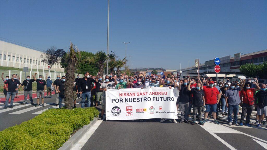 La Bustia Treballadors mobilitzats Nissan Sant Andreu