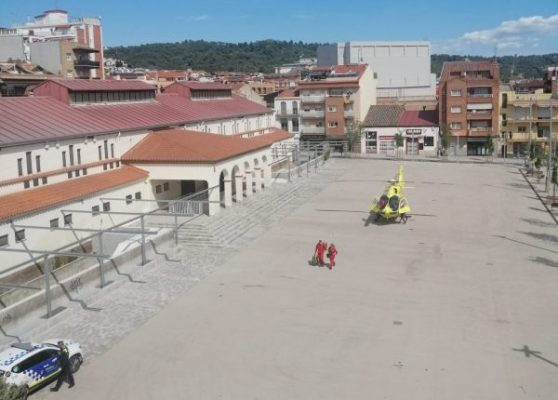 La Bustia helicopter pl catalunya Olesa