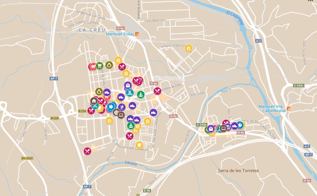 Martorell - La Bustia - mapa interactiu
