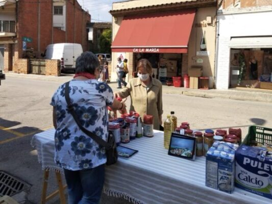 La Bustia Sant Esteve recollida Banc Aliments