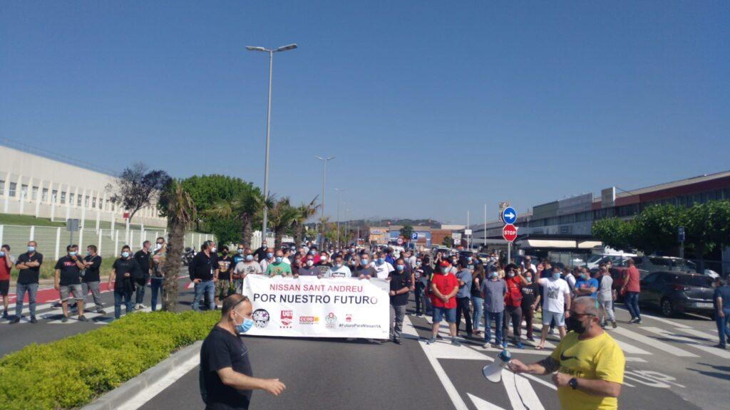 La Bustia protesta treballadors Nissan Sant Andreu