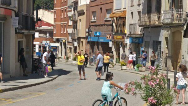 La Bustia zona comercial peatonal caps de setmana Masquefa