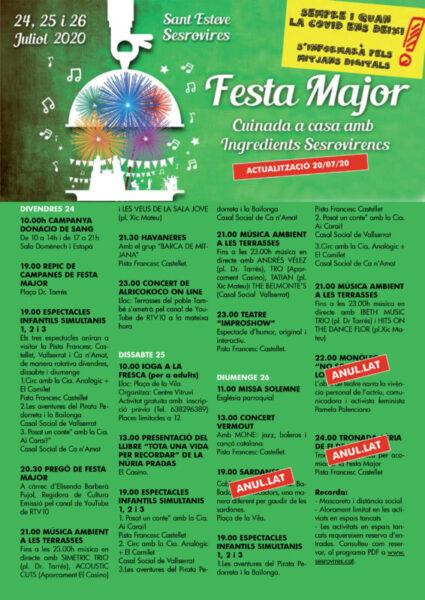 La Bustia Festa Major Sant Esteve programa